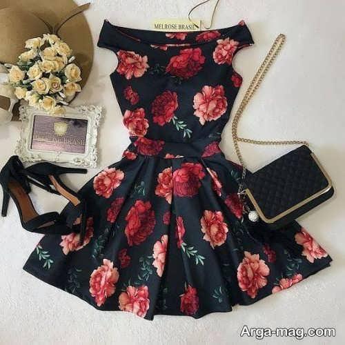 لباس مجلسی گلدار 2019