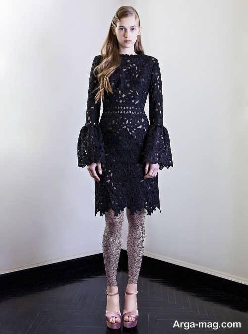 مدل لباس مجلسی گیپور 2019 مشکی