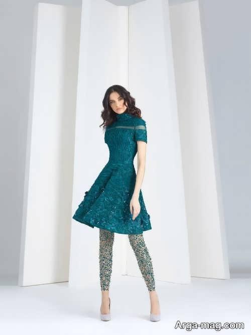 مدل لباس مجلسی دخترانه گیپور