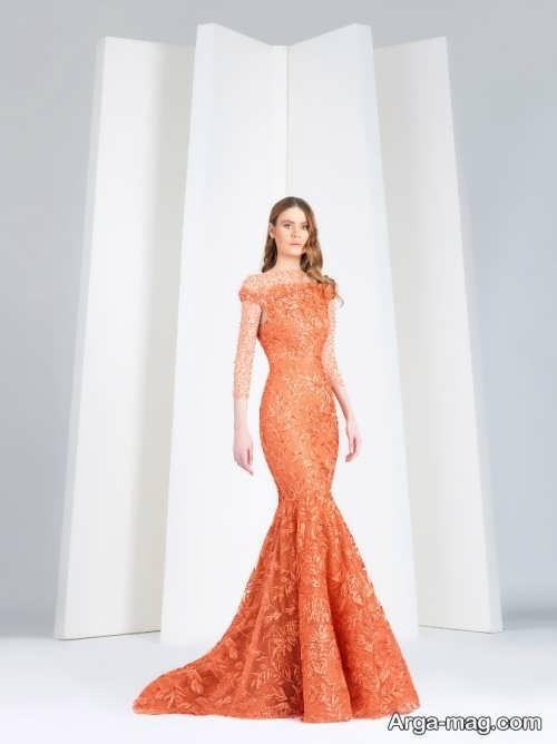 مدل لباس مجلسی زیبا و بلند گیپور