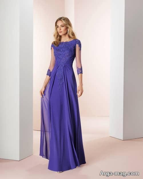 مدل لباس مجلسی آستین دار 2019