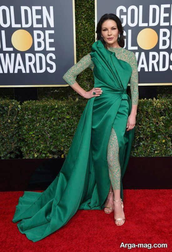 مدل لباس سبز ساده ستاره های هالیوود