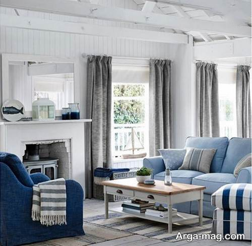 طراحی اتاق پذیرایی شکیل با رنگ خاکستری