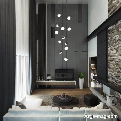 محیط دوست داشتنی با طراحی اتاق پذیرایی به رنگ خاکستری