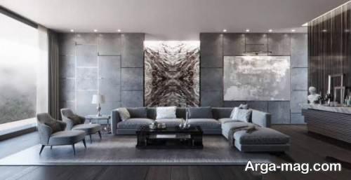 طراحی اتاق نشیمن با رنگ خنثی