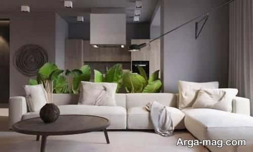 دکوراسیون اتاق پذیرایی به رنگ خاکستری