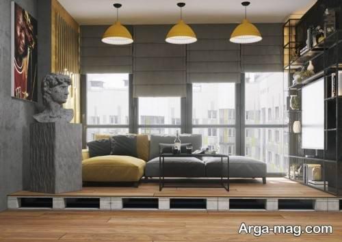 دکوراسیدن داخلی فضا با ترکیب رنگ های سرد و گرم