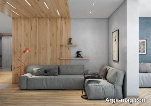 طراحی نشیمن با رنگ خاکستری