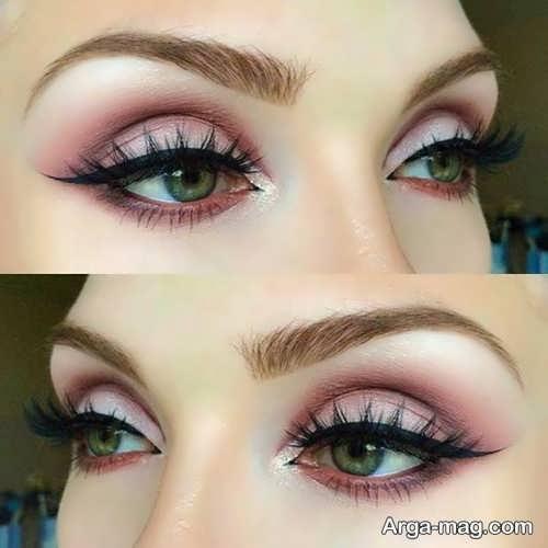 مدل آرایش زیبا و شیک برای چشم سبز