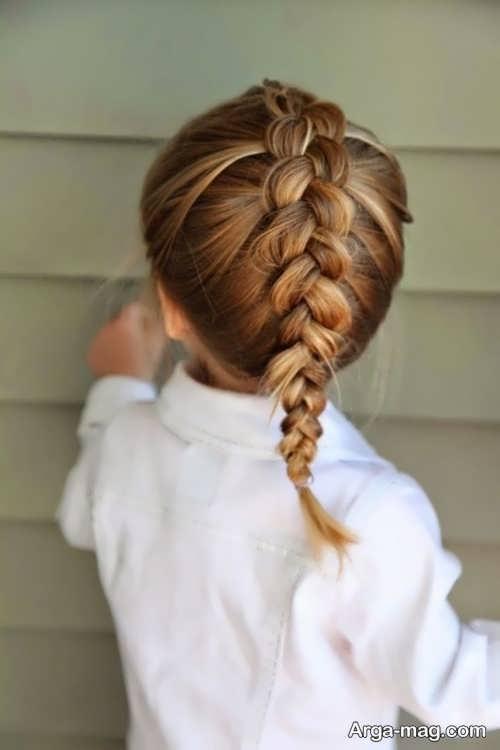 بافت موی زیبا و شیک بچه گانه