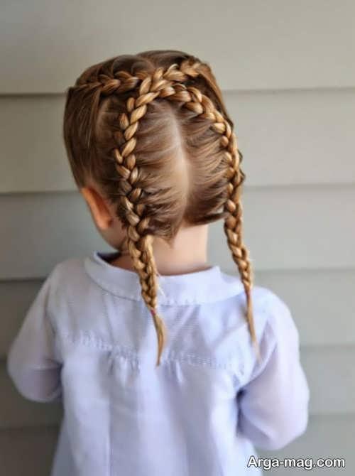 بافت موی ساده بچه گانه
