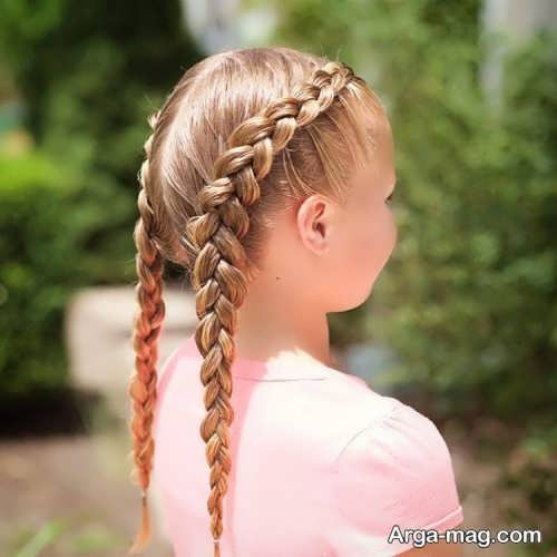 بافت موی دخترانه بچه گانه