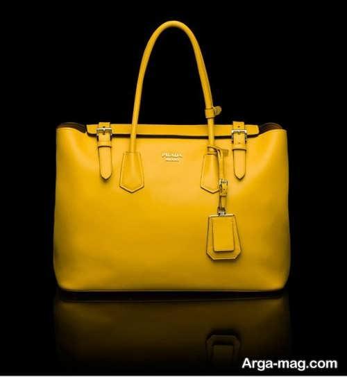 مدل کیف دستی زنانه زرد