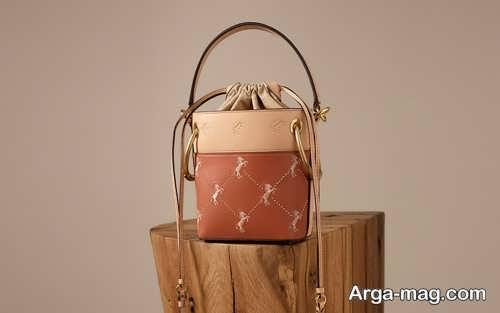 مدل کیف طرح دار دو رنگ
