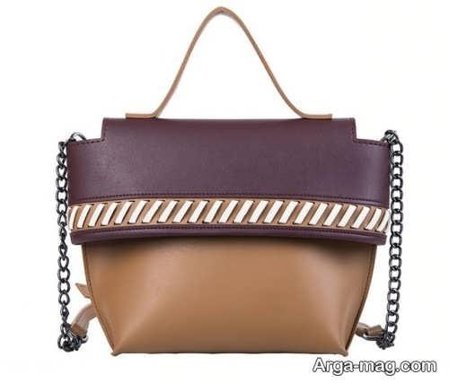 مدل کیف دو رنگ دستی