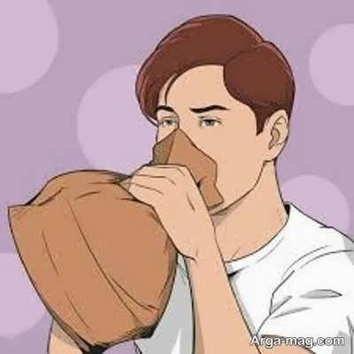 تنفس در کیسه کاغذی برای رفع سکسکه