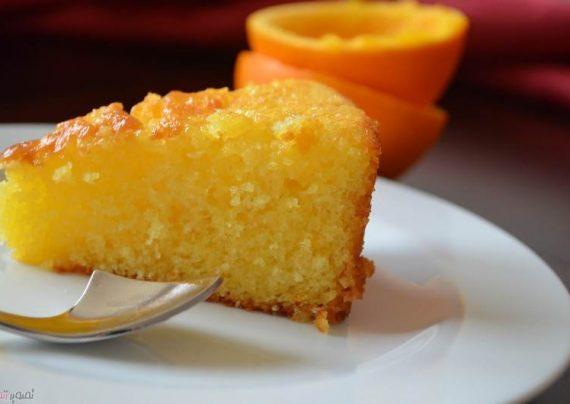 طرز تهیه کیک خیس پرتقالی در منزل