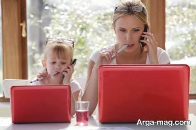 الگو برداری کودک از والدین