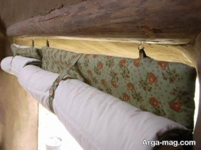 استفاده از پرده های توپر برای جلو گیری از ورود هوای سرد