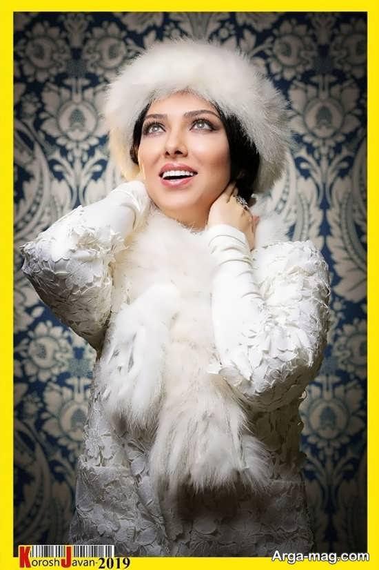 لیلا اوتادی با تیپ سفید