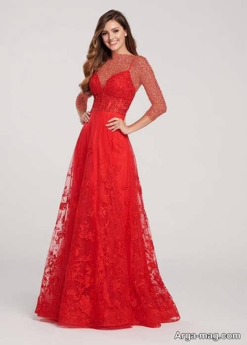 مدل لباس مجلسی قرمز و زیبا