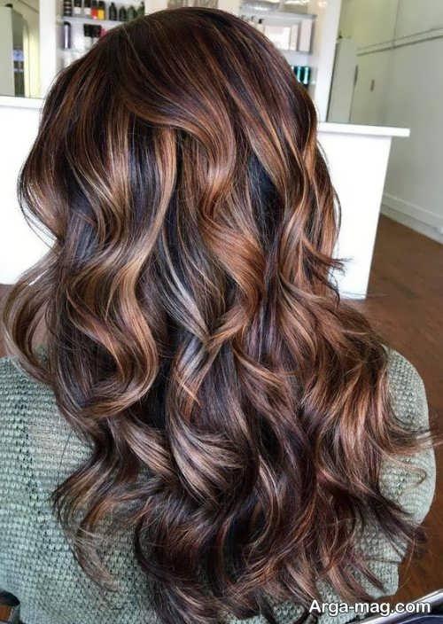 رنگ مو ماهگونی شکلاتی