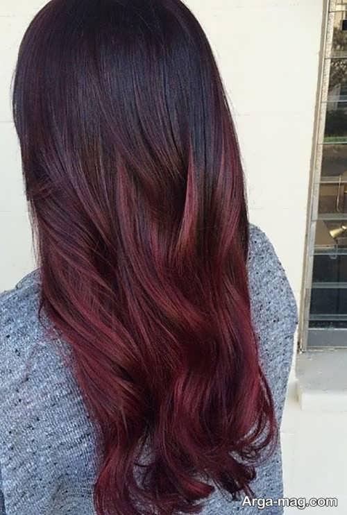 رنگ مو تیره ماهگونی