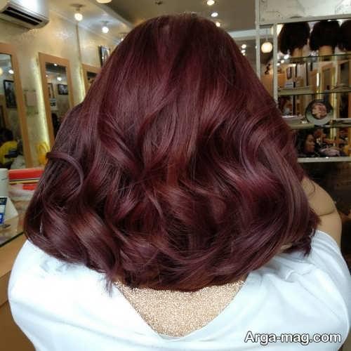 رنگ موی تیره ماهگونی