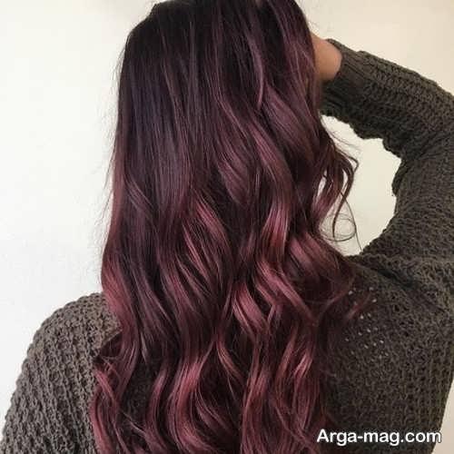 رنگ موی زیبا و جذاب ماهگونی