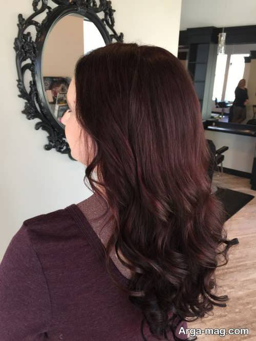 رنگ مو ماهگونی تیره