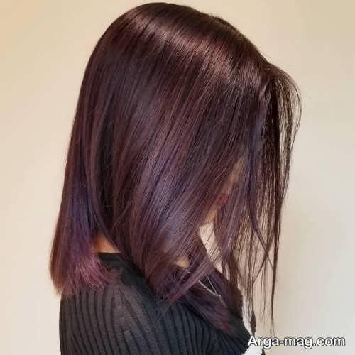 رنگ موی زیبا ماهگونی