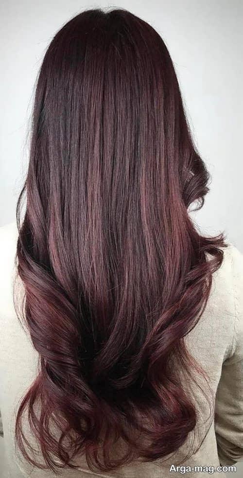رنگ موی شیک و جذاب ماهگونی