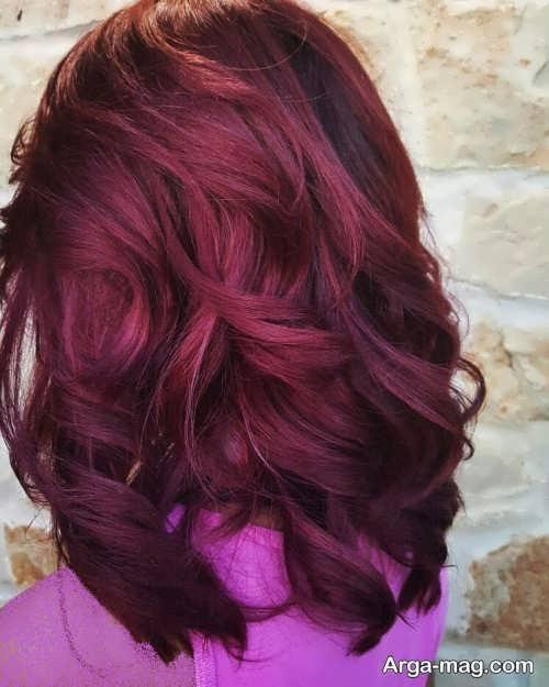 رنگ موی زیبا و خاص ماهگونی