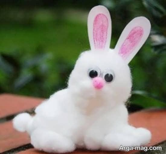 ساخت خرگوش با استفاده از پنبه