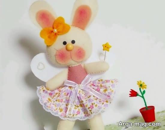 درست کردن خرگوش با نمد