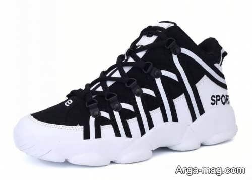 مدل کفش مشکی و سفید مردانه