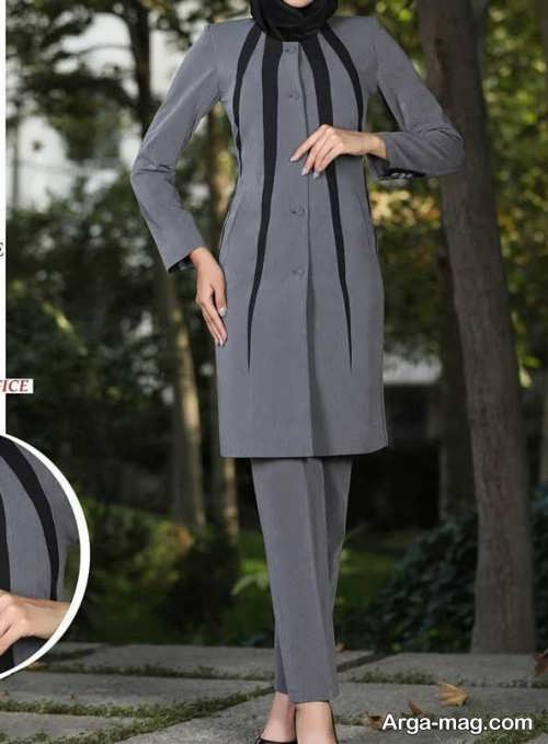 مدل لباس فرم اداری خاکستری