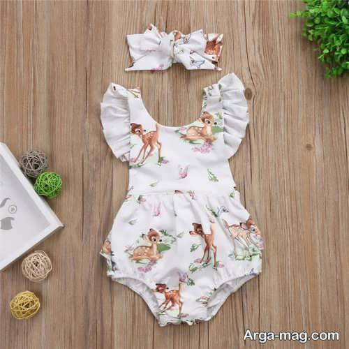 لباس نوزادی دخترانه زیبا و شیک