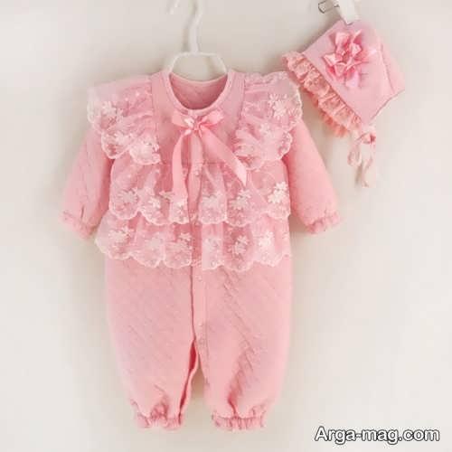 لباس صورتی نوزادی