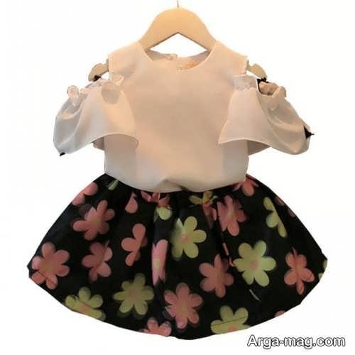 مدل لباس نوزادی طرح دار