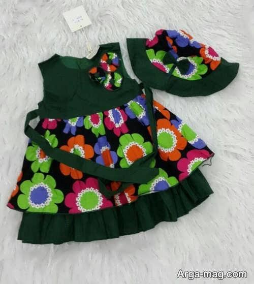 لباس طرح دار نوزادی