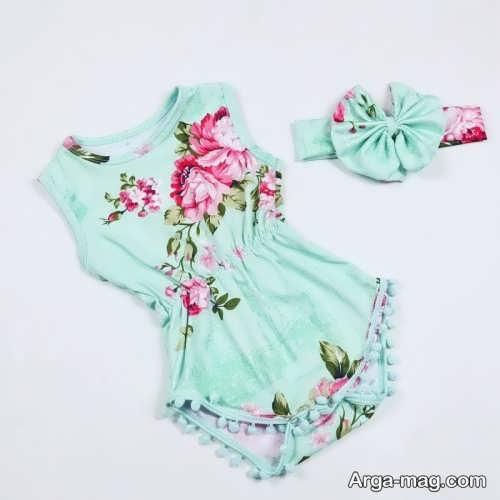لباس نوزادی طرح دار