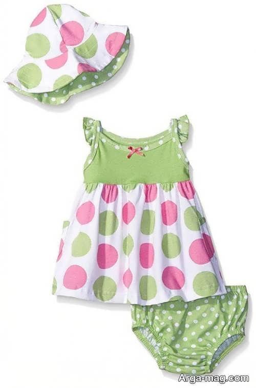 لباس نوزادی طرح دار دخترانه