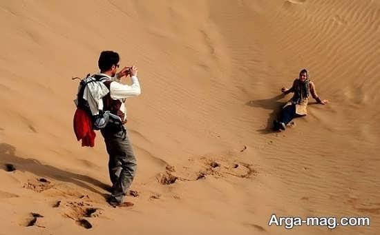 فیگور عکاسی زیبا در کویر