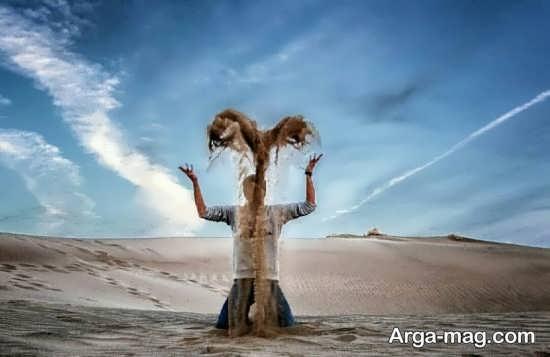 جدیدترین ژست عکاسی در کویر