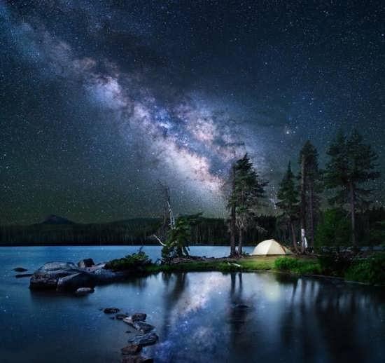 عکس متفاوت از طبیعت شب