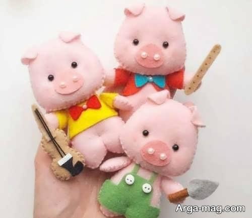 مدل های عروسک نمدی خوک