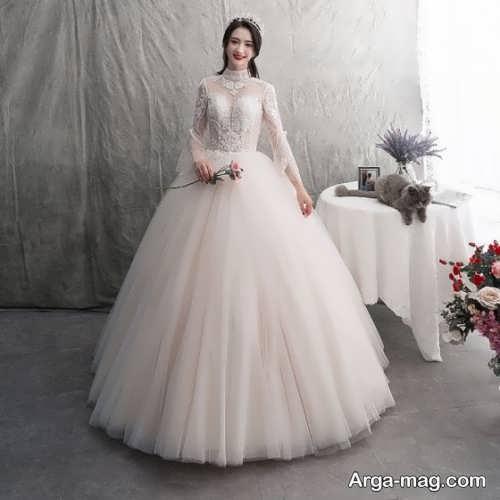 مدل لباس عروس زیبا و پف دار