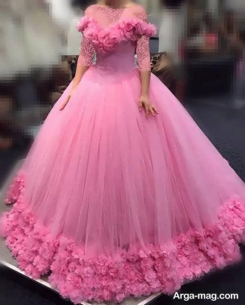 مدل پیراهن عروس پفی شیک