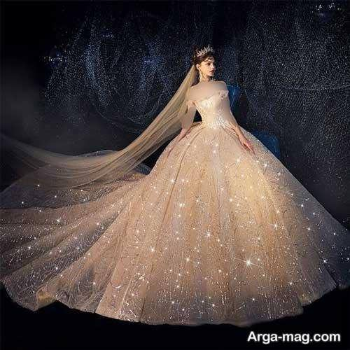 مدل لباس عروس پفی جذاب